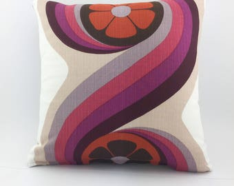 Pair of Throw Pillows  Original in 1970's Fabric - Never to be repeated