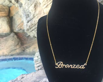 Bronzed necklace