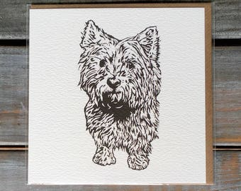 Westie Card / Card Set // Black and White//Birthday Gifts// West Highland Terrier//Cairn Terrier //Doglover//Gifts for her// New Home