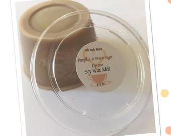 Pumpkin & Brown Sugar Espresso 100% Soy Wax Melts - 1.5oz