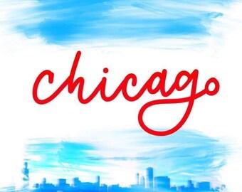 Chicago Flag Skyline, Bike, L Tracks