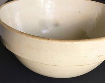 Vintage Ceramic Mixing Bowl, Vintage Stoneware Mixing Bowl, Vintage Ceramic Dough Bowl, Retro Mixing Bowl
