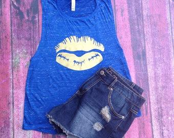 SeneBlue Lipstick Shirt