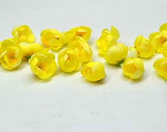 Artificial flowers, Yellow flowers, Flower crown