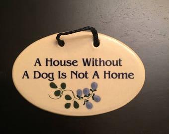 Ceramic Dog wall Hanging