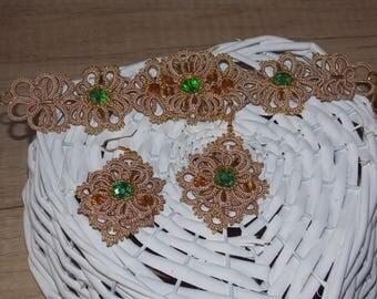 Jewellery, Jewellery Set, jewelry, Necklaces, Earrings , gift for Women , Gift, Gift for girls, Tatting Bracelet, beads Set,Fine Jewellery
