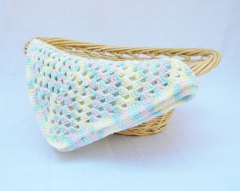 READY TO SHIP! Baby Blanket, Crochet Baby Blanket, Crochet Baby Afghan, Rainbow Baby Blanket, Granny Square Afghan
