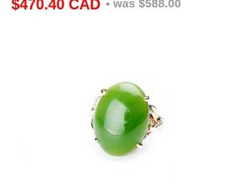 Vintage Jade Gold Ring