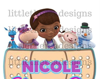 Doc McStuffins Birthday Girl and Family Transfers,Digital Iron ons,Digital Transfers,DIY