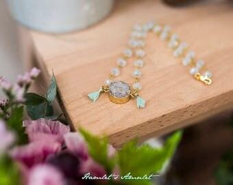 Druze Crystal Choker necklace