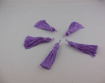 Tassel has lilac color rayon thread