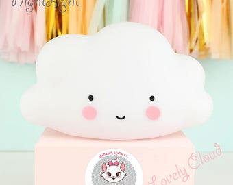 Cute Cloud Led Night Light For Kids Room And Decoration
