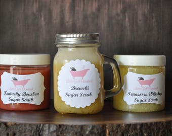 One Bourbon, One Scotch, One Beer - Sugar scrub set for Fathers Day!