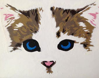 ACEO Original Painting: Kitten