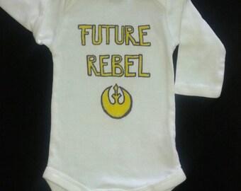 Star Wars onesie, Star Wars baby onesie, infant Star Wars outfit, long-sleeved onesie