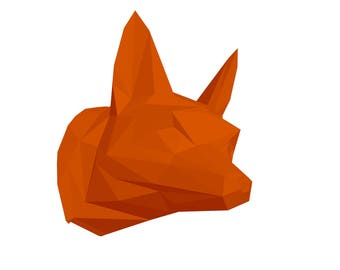 Fox head PaperCraft