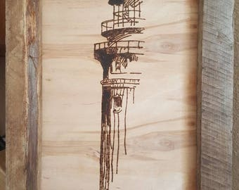 Wooden Picture of Lighthouse