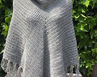 Handmade, crochet poncho.