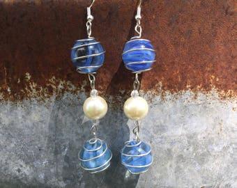 Double Marble Earrings