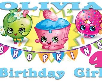 Shopkins Birthday Iron On Transfer, Digital Delivery, DIY, Iron On, Printable, Birthday Party, Transfer Design, Digital File