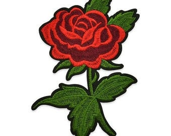 Expo Clarita Iron On Embroidered Rose Applique