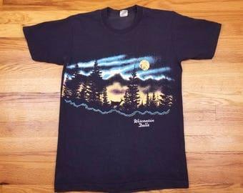 Vintage 90s Wisconsin Dells deer Forest nature Shirt Size Large