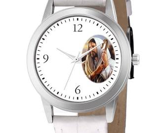 Custom clock with Jesus of Nazareth