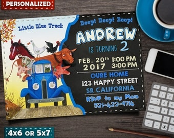 Free Thank you Tags- Little Blue Truck Invitation- Little Blue Truck Birthday- Little Blue Truck Invite- Party- Printables- Custom