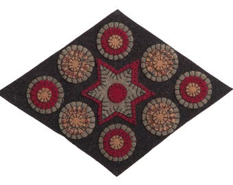 Diamond Shaped Penny Rug