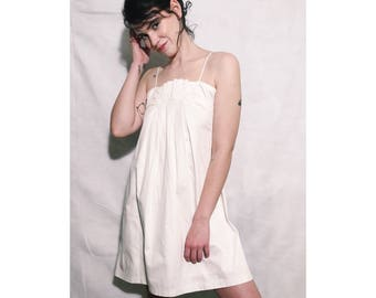 French Connection White Cotton Shift Dress