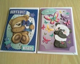 Handmade Cute bear card
