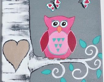 Custom Keepsake Painting, Baby Shower Gift, Custom Nursery Decor, Nursery Wall Art, Gift for New Moms