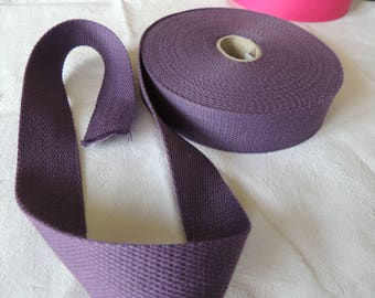Strap bagagere cotton purple width 30 mm