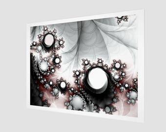 String of Pearls Fractal Art Print, Fine Art Print, Abstract Mathematical Fractal Print, Abstract Art Print