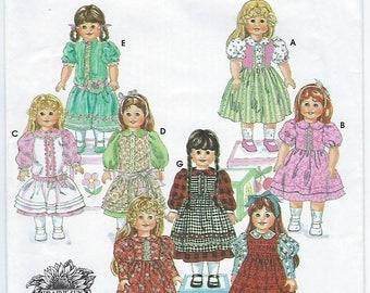 "Simplicity 9856 - VINTAGE - 18"" Doll Clothes"
