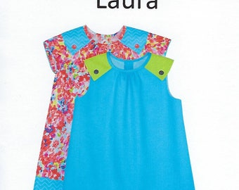Children's Corner Sewing Pattern #287 / LAURA / Sizes 3 - 6 and 7 - 12