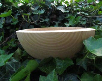 silky smooth large ash wooden bowl