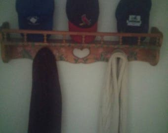 Hand painted scarf and hat rack