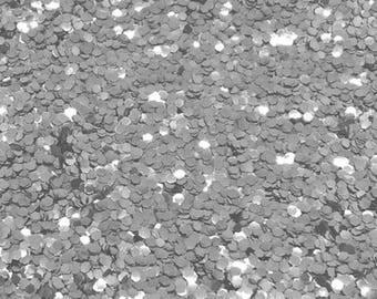 SILVER BIO GLITTER -Super Chunky  - Biodegradable Glitter- Festival Glitter - Eco Friendly - Mermaid Glitter - Cosmetic Grade -1000 microns