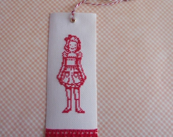 Small bookmark retro girl