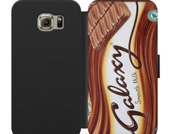 Galaxy chocolate bar PSU leather flip wallet phone case for iphone 4 5 6 7, Samsung s2 s3 s4 s5 s6 s7 S8 S8 plus and more