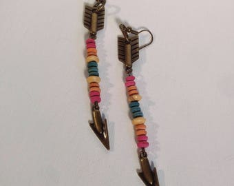 Rainbow Arrow Earrrings