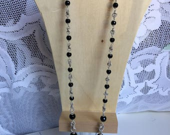 Aluminium and Onyx necklace