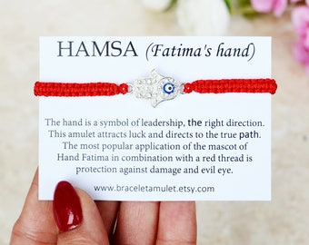 Evil eye bracelet Hamsa bracelet red Women bracelet Red Thread Bracelet hamsa hand Red String Bracelet Hamsa jewelry Good luck bracelet