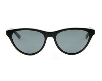 SophistiCATed stunning contemporary retro 50s style cat eye sunglasses. Hand made, flexible, lightweight and sexily serious 'AUDREY' Black