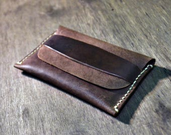 1 life 1 wallet, Handmade Leather Wallet cardholder coins purse