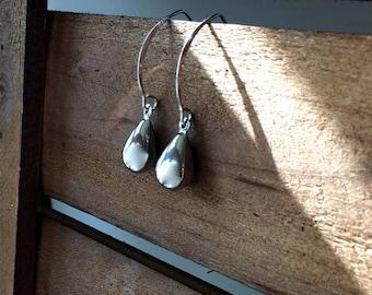 Sterling Silver 925 Tear Drop Earrings, Silver Earrings, Tear Drop, 925