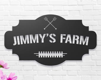 Farm Sign Etsy