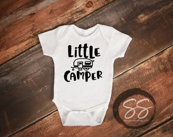 Baby Camping Onesie® Camping Shirt  Kids Camping Shirt Camping Happy Camper  Baby Shower Gift Baby Camping Baby Boy Clothes Little Camper