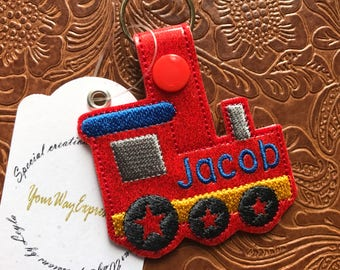 Train Keychain - Bag Tag - Party Favor - Gift - Personalized